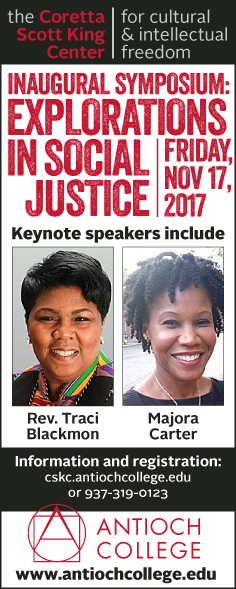 Inaugural symposium Explorations In Social Justice at Antioch College's Coretta Scott King Center for cultural and intellectual freedom