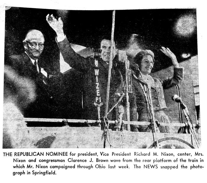 Nixon Speaks In Springfield