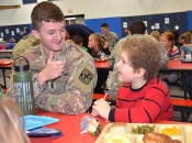 FEATURE: Veteran's Day lunch at Mills Lawn school (photos by Carol Simmons)