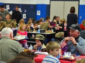 FEATURE: Veteran's Day lunch at Mills Lawn school (photos by Megan Bachman)