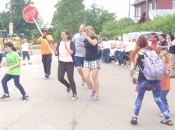 stop sign flash mob