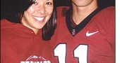 YSHS Class of 2004 valedictorian Aaron Zagory is the place kicker for the Stanford University football team. He is pictured here with his sister, Jessica Zagory, during a visit in Palo Alto, Calif.