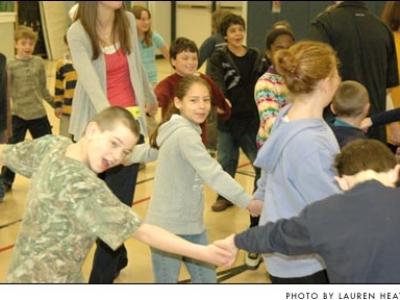 Little folk dancing
