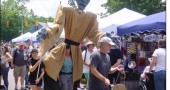 A large Frankenstein puppet walked the streets of Street Fair last Saturday, calling attention to the upcoming YS Kids Playhouse production of 'Frankenstein, Or the Difficulty of Changing One's Mind,' an adaptation of the venerable tale, to be performed June 26 to July 6 (no show on July 4th) at the Antioch Amphitheater.