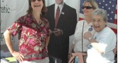 Last Saturday's Fall Street Fair, sponsored by the Yellow Springs Chamber of Commerce, drew thousands of visitors to town on a brilliant autumn day for food, shopping and live music. Above, Barack Obama's likeness made a surprise appearance at the Greene County Democratic Party booth surrounded by Kate Levesconte, left, Laurie Dewey and Shirl Levesconte.