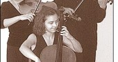 Yellow Springs native and violist Wendy Champney, left, and her husband, violinist Matthias Enderle, will perform this Sunday with their Carmina Quartet for CMYS's 25th anniversary celebration. The program features the couple's daughter, Chiara, pictured above, playing second cello on Schubert's String Quintet.