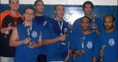 YSHS basketball alumni tournament champions for 2009 were alumni from the class of 2004: from left are Dustin Rudegeair, Rory Hotaling, Jordan Skinner, Anthony Brandon, Aaron Cobb, Brandon Frye and Donovan Boddie.