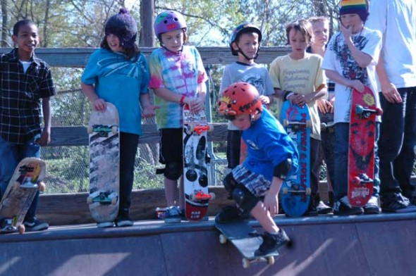 The YS Skate Park will complete its first phase of renovations on May 30, to be unveiled at Skate Fest on June 13, during Street Fair. (photo by Lauren Heaton)