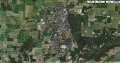 Yellow Springs, Ohio - a satellite image from Google Maps