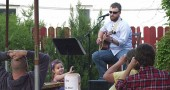 Dustin Vincent performed last Friday at the Corner Cone. The ice cream business will feature musicians on the patio on Friday evenings.