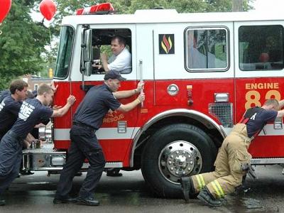 Fire station celebrates new engine