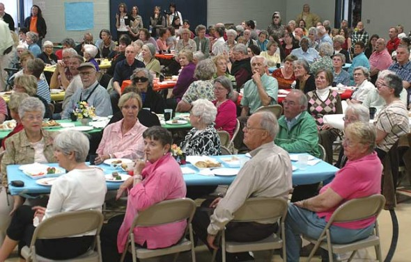 MLS Senior Tea crowd