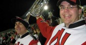 Yellow Springs native Brian Mayer, right, and his classmate Dan Mueller from Northern Illinois University played together in the school's pep band. They will join their fellow graduates from NIU in a benefit horn, piano and vocal concert at the -First Presbyterian Church on Saturday, June 26, at 7:30 p.m. (Submitted photo)