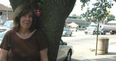 Local artist Kathleen McMillan created flower fairies out of silk flowers, and has placed the fairies in downtown trees.