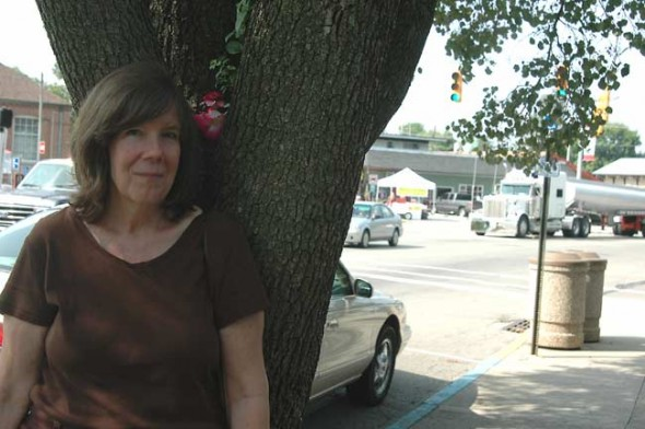 Local artist Kathleen McMillan created flower fairies and nestled them in downtown trees.