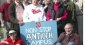 On Monday, organizers of Nonstop Antioch received the keys to their new office suite at 716 Xenia Avenue. Pictured above are, sitting down, Lincoln Alpern and Don Wallace. Standing are, from left, Otha Davenport, Hassan Rahmanian, Carl Hyde, Ellen Borgersen, Ellen Wallace, Risa Grimes, Brian Springer, Anne Bohlen, Aimee Maruyama and Bob Baldwin, the owner of the building.