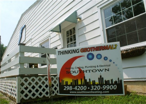 The new branch of Southtown Heating and Cooling will be located in Yellow Springs on Cliff Street. The company is pursing more green technologies like solar and geothermal. (Photo by Megan Bachman)