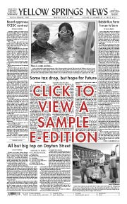View a sample edition of the Yellow Springs News e-edition