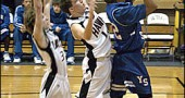 YSHS boys basketball team came tantalizingly close to an upset in the sectional finals on Friday, Feb. 22, but Tri-Village got the last word in the final minutes to win 50–48. Bulldog senior Kilan Brown, above, at the sectional semi-finals last week.