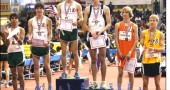 2008 All-American Track & Field Team; Jake GunderKline at far right.