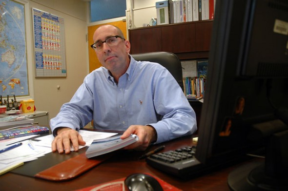 he new principal of the High School and McKinney School, Tim Krier sees the influx of international students and a new flexible credit policy as positive developments for the schools in 2010. (Photo by Megan Bachman)
