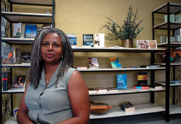 Brenda Stone Browder, a Springfield native and author, opened her new bookstore, The Rolling Pen Book Cafe at 111 Corry Street. (Photo by Megan Bachman)