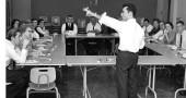 Rod Serling teaching at Antioch College during his stint as professor, 1962–63 (photo by Axel Bahnsen; courtesy of Antiochiana)