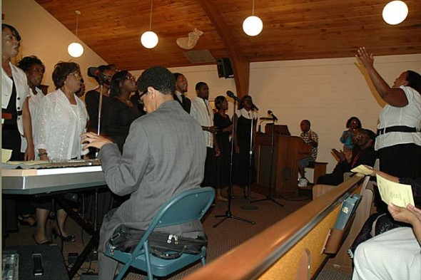 The choir of the Church of Jesus of Springfield gave a rousing performance at the 13th annual Gospel Fest at the Central Chapel AME Church on Wednesday night.