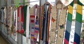 This weekend the First Presbyterian Church will display 50 liturgial stoles of gay, lesbian, bisexual and transgender clergy members from around the country, many of whom have been kept from serving due to their sexual orientation. (Submitted photo from a 2007 exhibit in in Chicago)