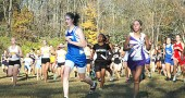 Lois Miller led a field of 146 runners at the John Bryan Invitational on Tuesday. She won the race 50 seconds ahead of the second place finisher. (Photo by Megan Bachman)