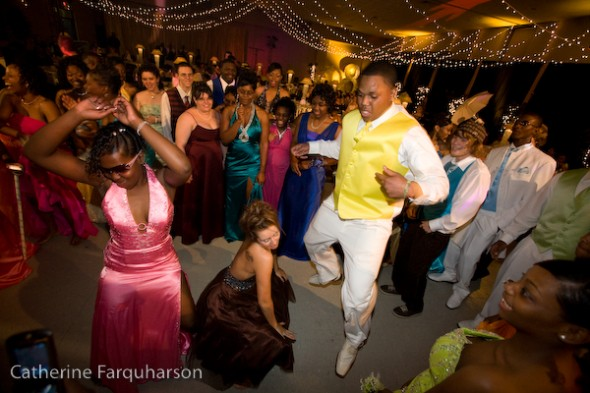 "Students in Charleston, Mississippi dance at their first racially integrated prom in the 2008 documentary ""Prom Night in Mississippi,"" screening tonight at the Little Art Theatre. (Photo by Catherine Farquarson)"
