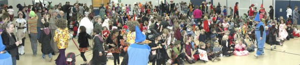 Mills Lawn School gym after the great annual Halloween Parade. (Photo by Matt Minde)