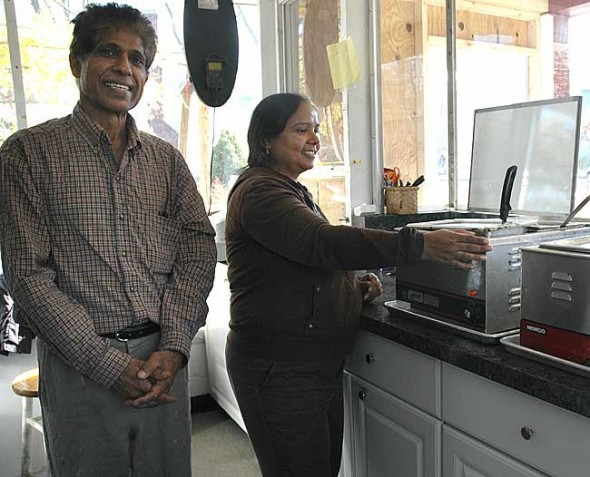 Akhilesh and Pratibha Nigam recently opened the Indian Food Corner at the Corner Cone restaurant. The couple, who formerly owned Nigam's in Beavercreek, serve freshly made Indian food from 11 a.m. to 7 p.m. Thursdays through Saturdays, and noon to 4 p.m. Sundays. (photo by Diane Chiddister)