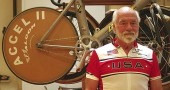 Richard Simons, shown above, recently retired at age 77 from competitive bicycle racing, in which he won many titles.