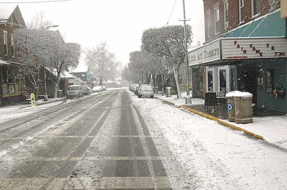 The winter storm system moving across the midwest closed Yellow Springs schools today. (News file photo)