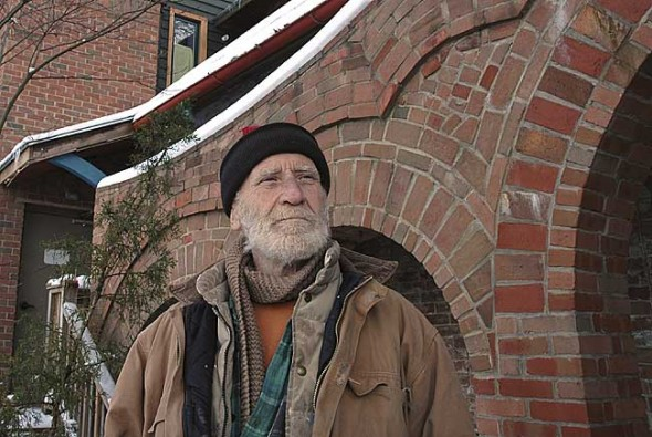 After several decades of creating art with the bricks and mortar at his Xenia Avenue Oten Gallery, Alan Macbeth is putting his building on the market. The Yellow Springs Arts Council resides in part of the building, and the Asian Collection rents another space. MacBeth lives in a basement apartment.
