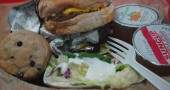 Sodexo's cheeseburger and salad.