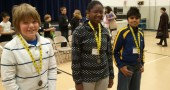 Dylan Dietrich, Evalynn Orme and Atulya Dora-Laskey were winners of the Mills Lawn spelling bee.
