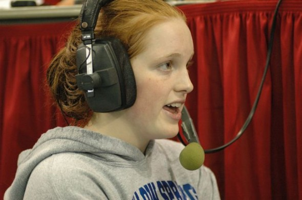 Malone was interviewed after clinching the district title in the 100-yard butterfly.