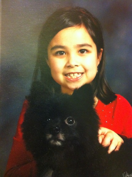 Madison and Oreo in Sunday best,