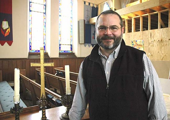 Joe Hinds was chosen as the First Presbyterian Church's new part-time pastor in January. The church will welcome Hinds and celebrate its recent sanctuary renovations at a worship service on Sunday, March 27, at 10:30 a.m. (Photo by Megan Bachman)