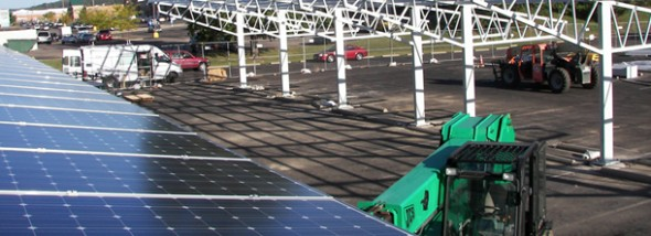 SolarVision installed a 224-kilowatt solar array at the Athens Community Center last year.