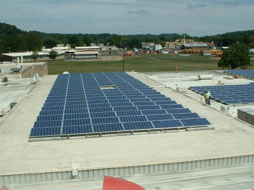 SolarVision installed a 128-kilowatt array at the Newcomerstown High School last year.