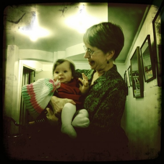 Barbara with Yellow Springs' cutest baby.