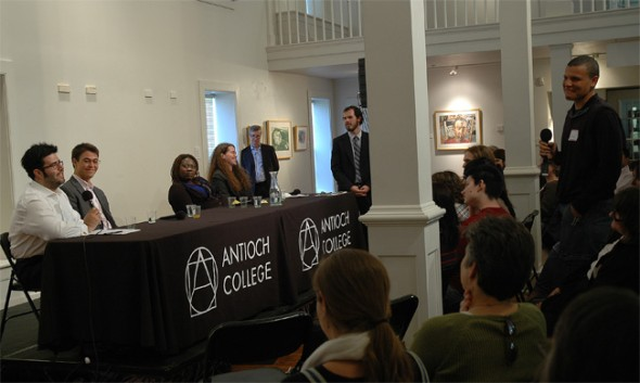 A panel of 2008 graduates discussed their co-op experiences and answered questions from prospective students.