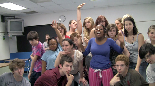 The YSHS drama club rehearsed for Chicago recently.