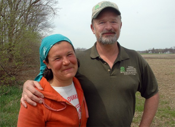 Permaculture expert Mark Shepard designed a food forest last weekend at Amy Batchman's Radical Roots Farm. (Photo by Megan Bachman)