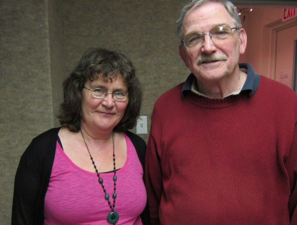 Irish radio producer Mary Phelan, left, traveled to the Miami Valley to meet President Obama's fourth cousin Roger Kearny of Troy, for a radio documentary about Obama's Irish forebears and their descendants in the region.