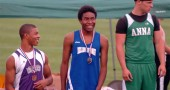 Mario Cosey took second in the 100-meter dash at the regional tournament in Troy on Wednesday. He'll run at states next weekend. (Photo by Megan Bachman)