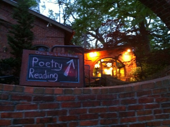 poetry reading sign